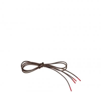 Think Zubehör Schuhband mit roten Enden BRAUN